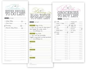 Printable-list-forms