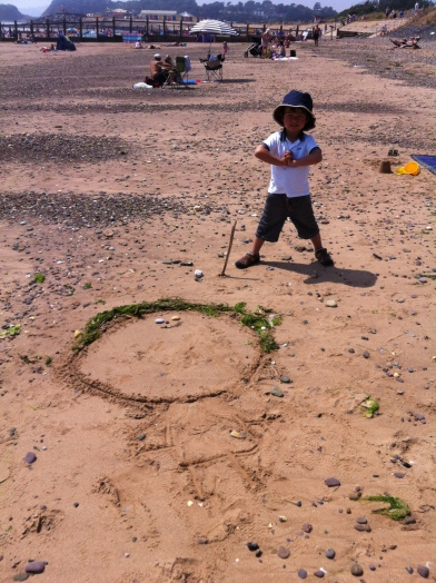 Dawlish sand sculpting